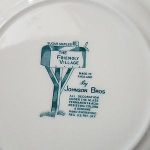 johnson brothers Holiday - Johnson Brothers Set 8 The Friendly Village Plates